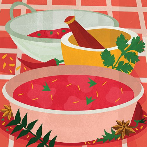 Indian Food Illustration