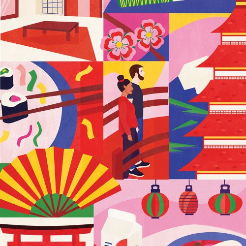 Japan Illustrated Poster