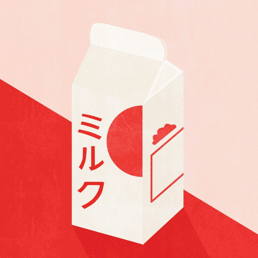 japan milk illustration